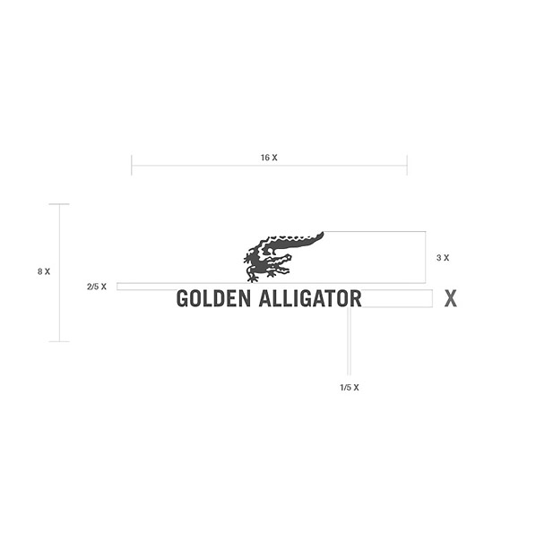Golden Alligator Logo